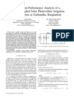 Design and Performance Analysis of a Directly-coupled Solar Photovoltaic Irrigation Pump System at Gaibandha, Bangladesh