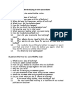 Cyberbullying Guide Questions