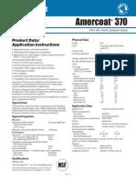 PPG Amercoat 370 Data Sheet