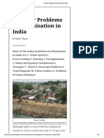 11 Major Problems of Urbanisation in India