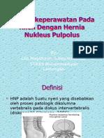 Asuhan Keperawatan Pada Klien Dengan Hernia Nukleus Pulpolus