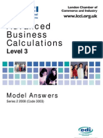 Advanced Business Calculations Level 3/Series 2 2008 (Code 3003)
