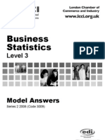 Business Statistics Level 3/Series 2 2008 (Code 3009)