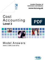 Cost Accounting Level 3/Series 2 2008 (Code 3016)