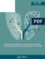 Barriers and Facilitators to Adherence to Tuberculosis Treatment Among Drug Resistant TB Patients in Georgia