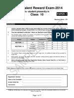 250827963 Ftre 2014 Sample Paper Class 10 Paper 1