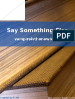 Say Something Else - Vampireisthenewblack