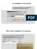 IMS Client Installation Procedures.ppt