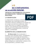 Tecnicas e Instrumentos de La Accion Tutorial