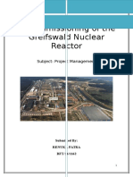 Decommission of Nuclear Reactor
