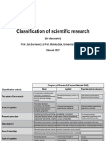 2017_02 Classification of the Scientific Research, By Jan Burnewicz & Monika Bak, University of Gdansk (Corrig)