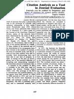 Citation Analysis as a Tool