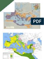 Mapas Do Império Romano e Reinos Bárbaros
