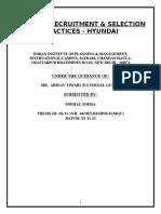 Current Recruitment Process Hyundai