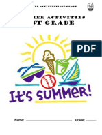 Summer Activities 1st Grade
