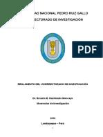 Reglamento de Investigacion- VRINV
