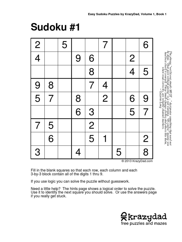 Kd Sudoku Ez 8 V1 Pdf Single Player Games 118 Views