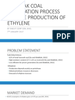 Production of Ethylene From Coal