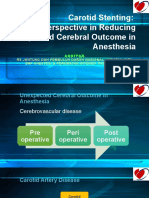 Dr ARDIYAN Carotid Stenting a New Perspective in Reducing Unexpected Cerebral Outcome in Anesthesia