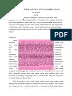 Artikel Mikroteknik Mengidentifikasi Isolasi Dna Pada Buah