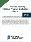 The Alabama Reading Initiative Program Evaluation Report - ALSDE Research & Development