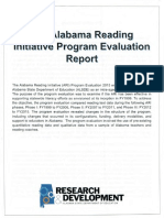 The Alabama Reading Initiative Program Evaluation Report - ALSDE Research & Development