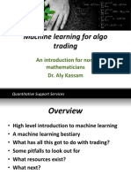 Machine Learning for Algo Trading