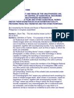 Anti Camcording Act RA 10088