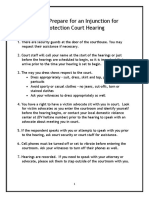 How to Prepare for an Injunction for Protection Court Hearing