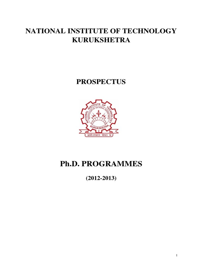 Nit kurukshetra phd thesis