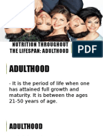Nutrition Throughout the Lifespan
