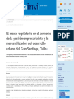 El marco regulatorio en el contexto de la gestión empresarialista y la mercantilización del desarrol