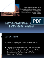 Laryngopharyngeal Reflux, Dr a Haddad