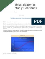 Variables Aleatorias Discretas y Continuas