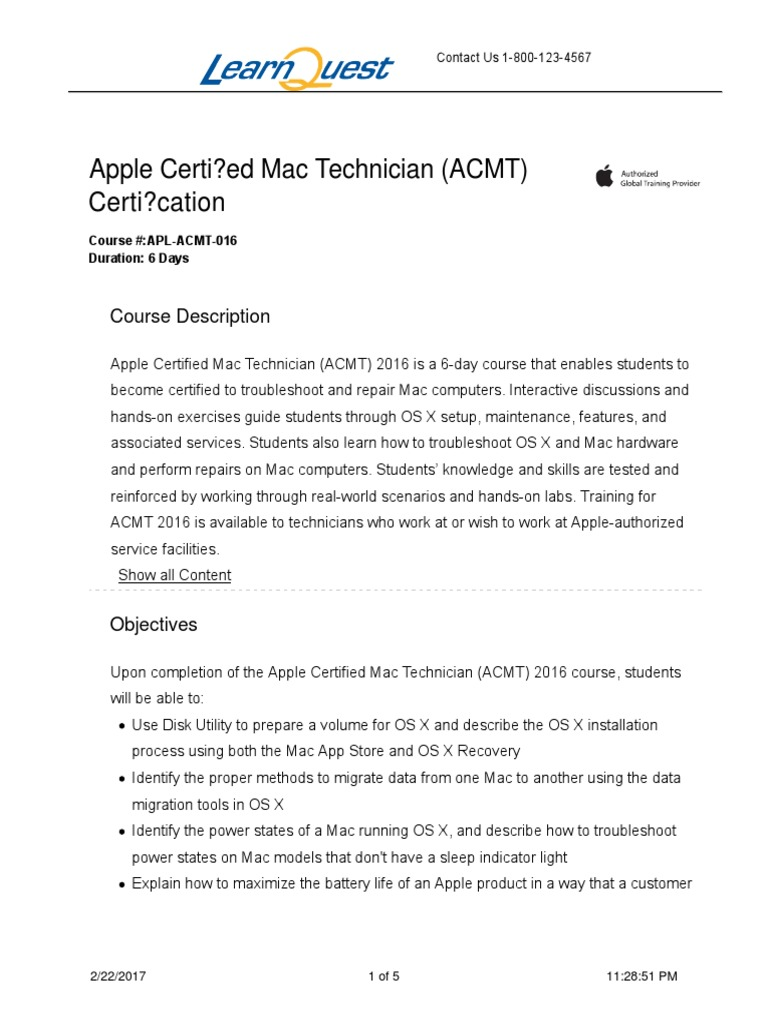 Apple Certified Mac Technician Acmt Certification 2 22 20171128 51