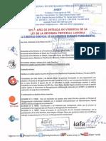 Seccional ANEP IAFA-Carta a  varios Ministros
