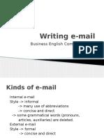 Writing e Mail