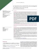 Revista Española de Cardiología Volume 65 Issue 6 2012 [Doi 10.1016%2Fj.recesp.2011.12.017] M. Concepción Martín-Arribas; Isabel Rodríguez-Lozano; Javier -- Revisión Ética de Proyectos. Experiencia De