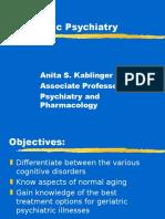 Geriatric Psychiatry