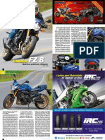 Prueba Yamaha FZ8 Edicion 101
