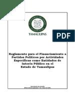 Reglamento de Uso de Prerrogativas de Partidos politicos en Tamaulipas
