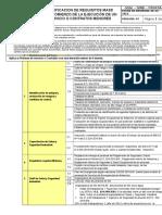 GSSL - SIND - FR043A. Verificación de Requisitos MASS Pre- Comienzo de La Ejecución de Un Servicio o Contratos M