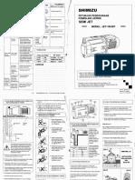 Shimizu PS 100BIT Manual