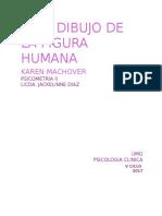 PSICOMETRIA II Test Figura Humana Karen Machover.docx