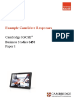 Example Resoponses IGCSE BUSINESS STUDIES