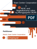 Plastic Town v. NLRC and ULM