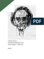 Román, Sergio - Antonin Artaud, Sistemas de Interpretación