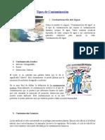 10 Tipos de Contaminación