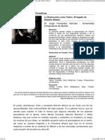 Fernández Gonzalo, Jorge - La Destruccion Como Teatro El Legado de Antonin Artaud