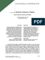 Sánchez León, Juan Carlos - Sobre Antonin Artaud y Platón